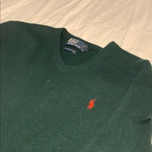 Forrest green Polo by Ralph Lauren v-neck sweater